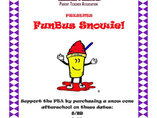 Fun Bus Snowie Days! Support the PTA!