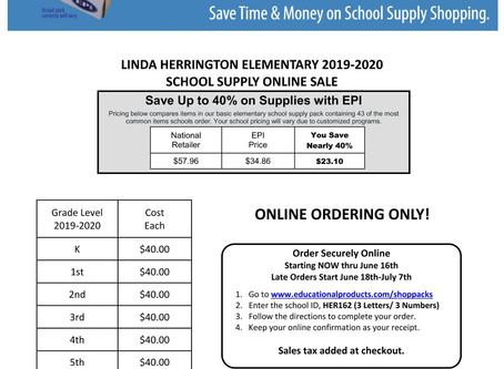 School Supply packs on sale now!