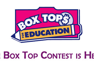 Bring in Box Tops Until November 4th to Win a Prize!