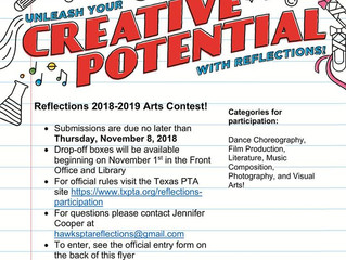 Reflections Art Contest! Submissions due November 9th.