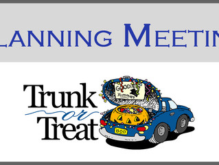 Trunk or Treat Planning Meeting - 9/29/16