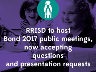 RRISD to Host Bond 2017 public forums