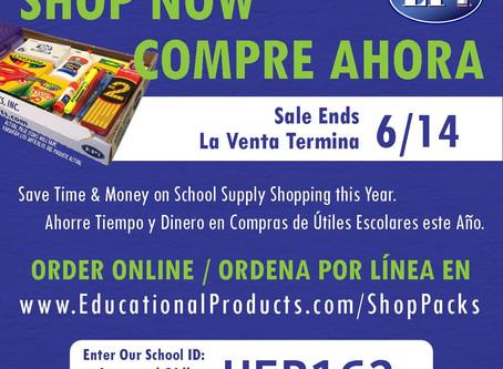 Get your school supplies now!