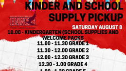 School Supply pickup this Saturday!