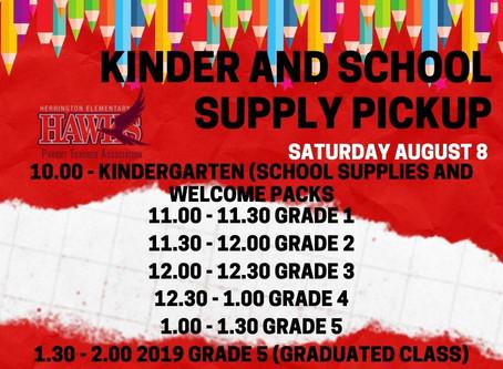 School Supply pickup this Saturday!