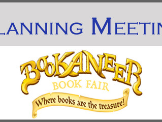 Planning Meeting for Bookaneer Book Fair on Friday, November 4 at 9:00 AM