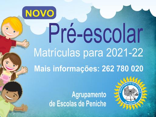 Matrículas Pré-Escolar 2021