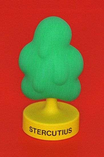 STERCUTIUS (plaster, wood, plastik, paint / 8 x 18 cm)