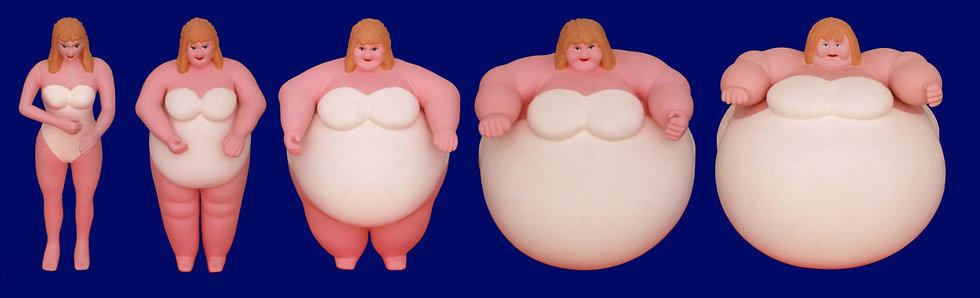 WOMEN (plastic, plaster, paint / 54 x 16 cm)