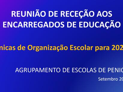 Plano de Contingência e dinâmicas de organização escolar para 21-22