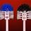 Thumbnail: TOILET BRUSHES (Plastic, Paint / 7 Brushes: 50 X 72 cm