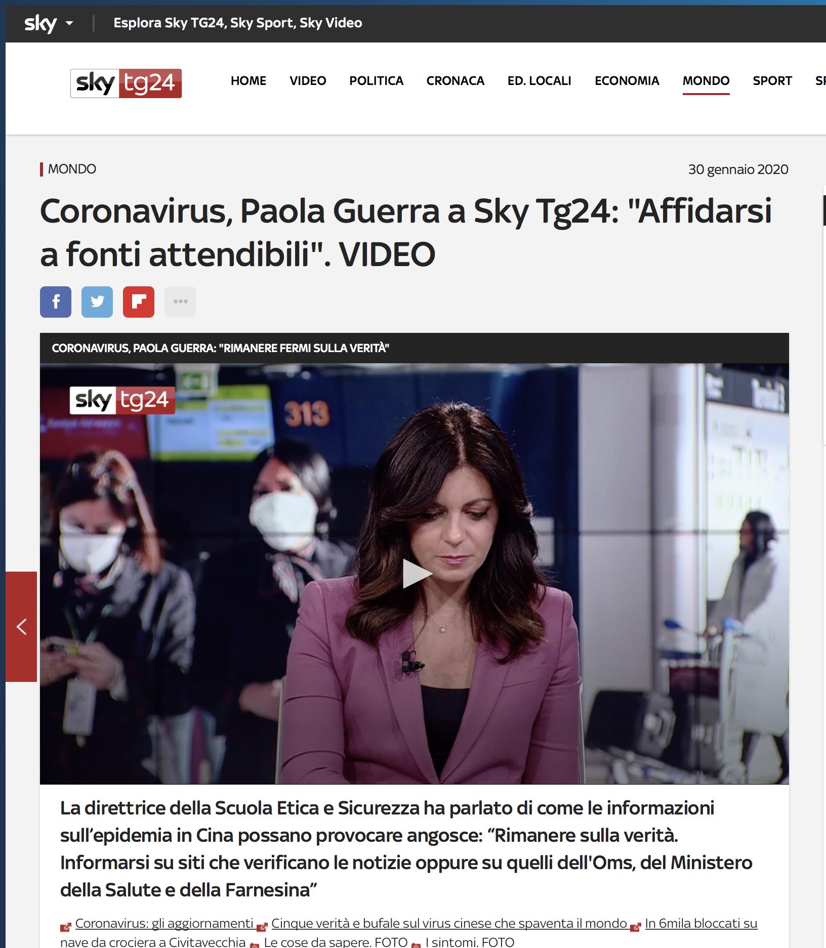 Paola Guerra - Intervista Sky