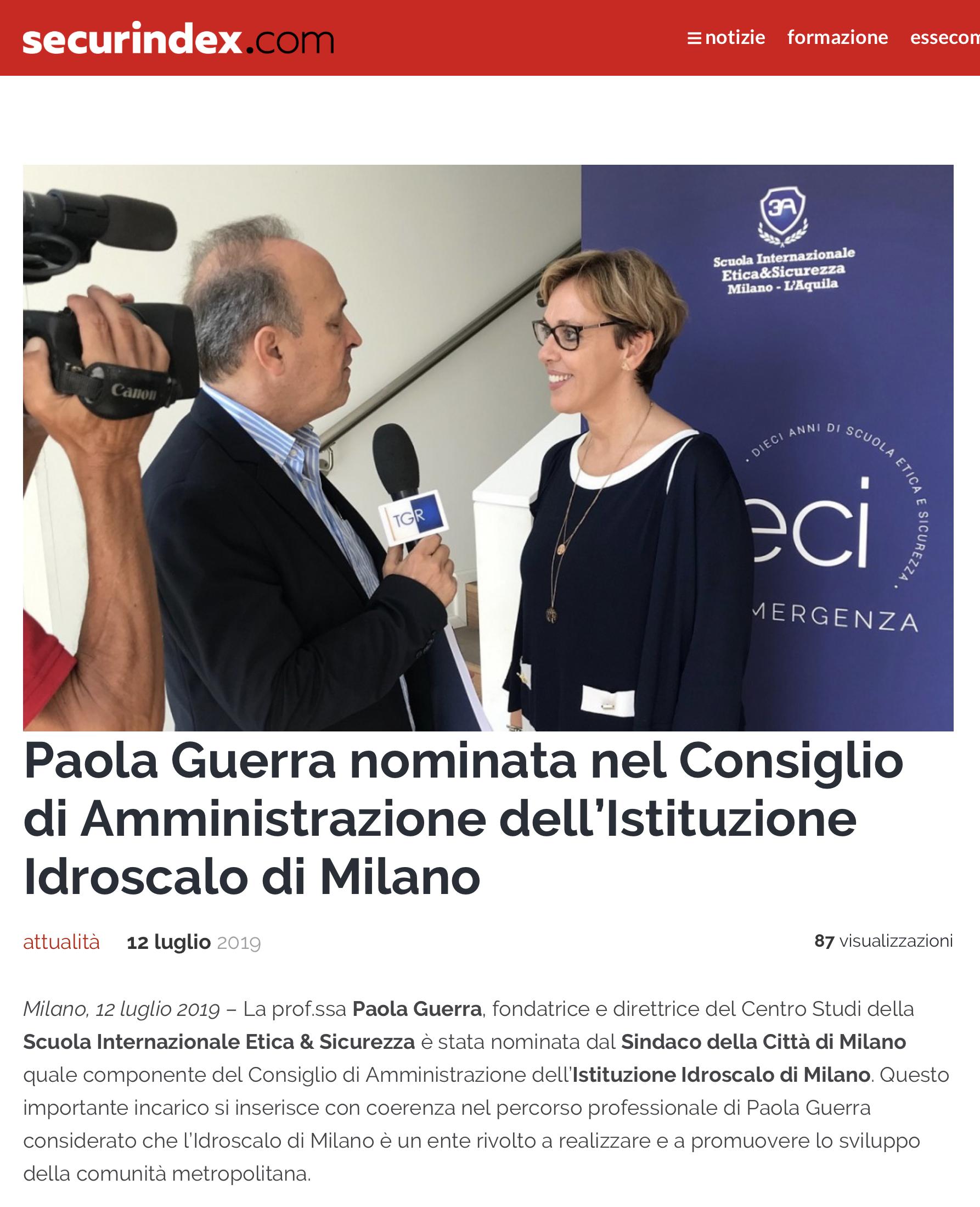Nomina Paola Guerra - securindex