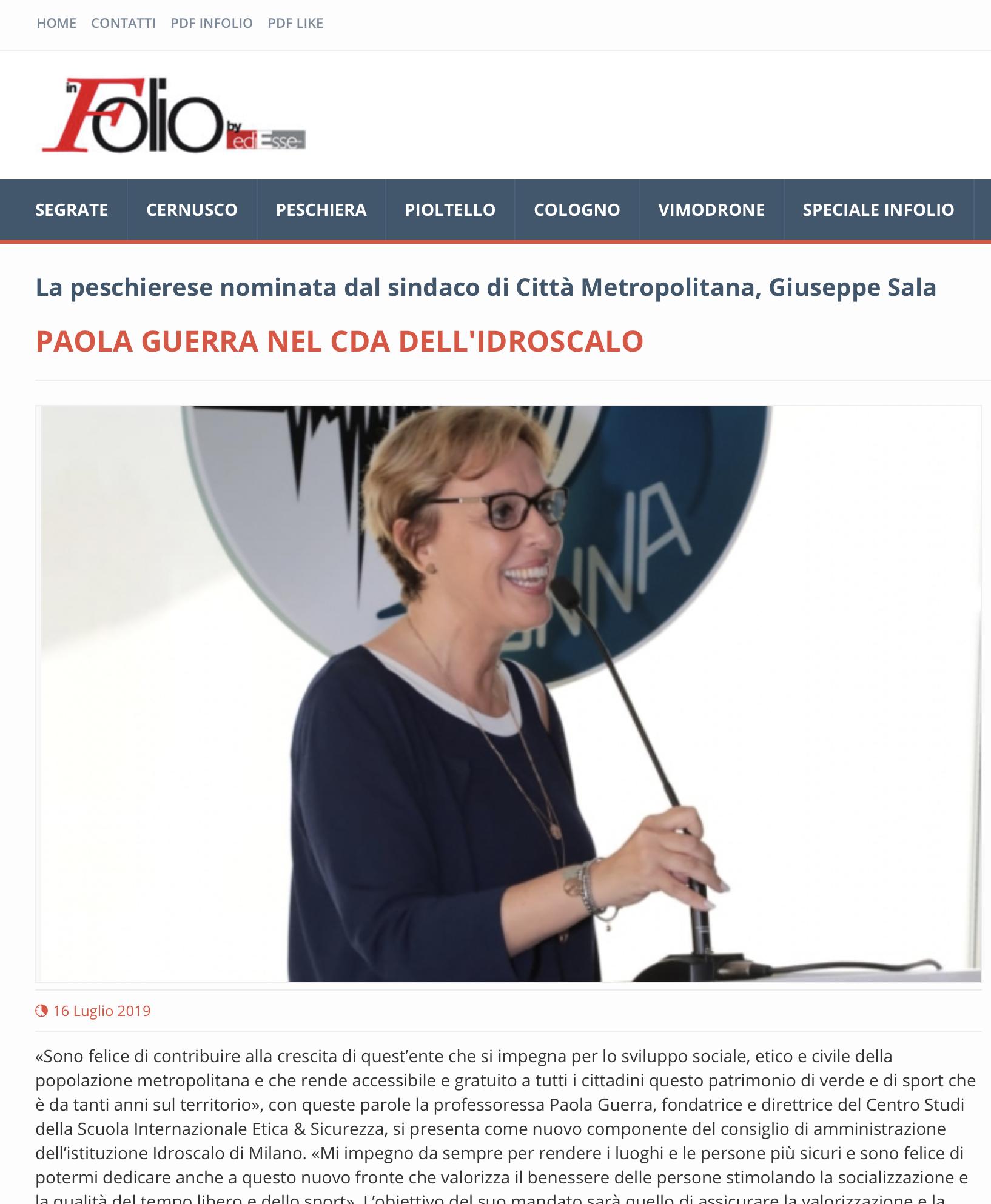 Nomina Paola Idroscalo