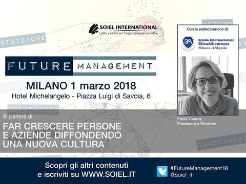 Future Management 1 marzo 2018 Milano Intervento di Paola Guerra