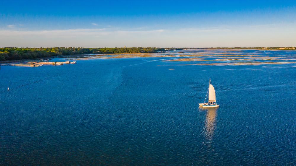 Sailing off of Hilton Head Island