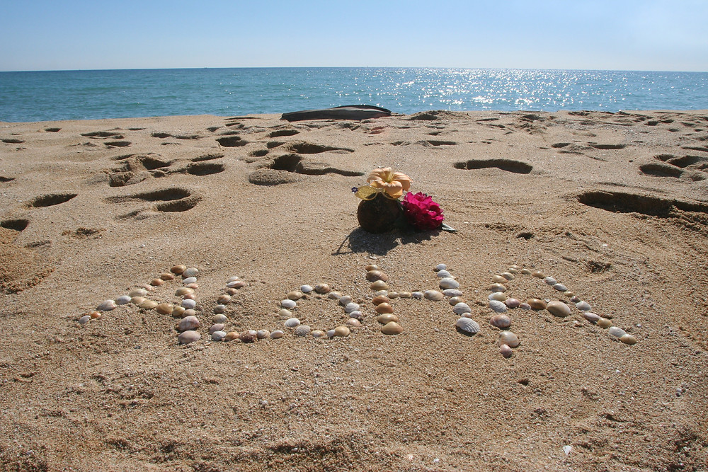 Aloha in the sand