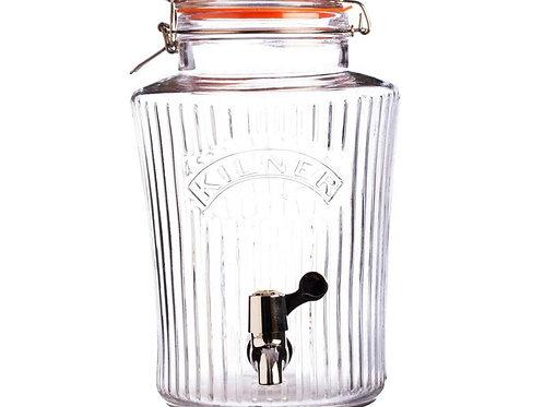 Диспенсер для напитков стеклянный. Объём: 3.8 л