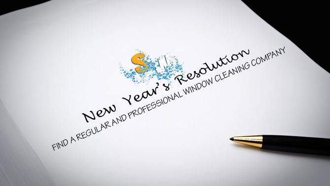 New Year, Window Cleaning Resolutions..