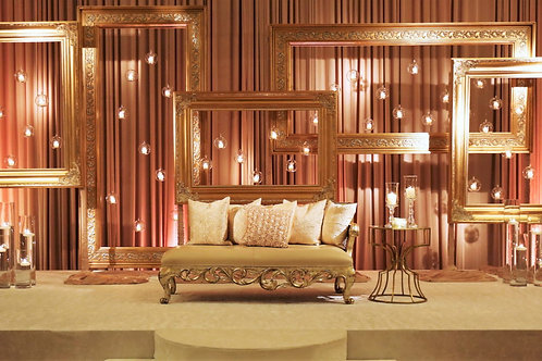 Gold Frame Candle Wall