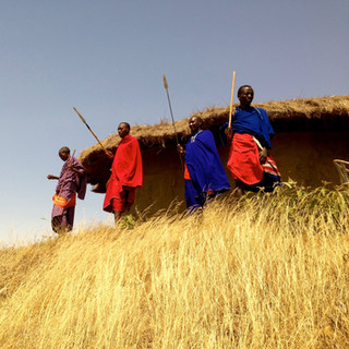 Maasai sind immer wach sam