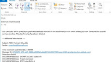 Cyber attacks pretending to be payment schedules