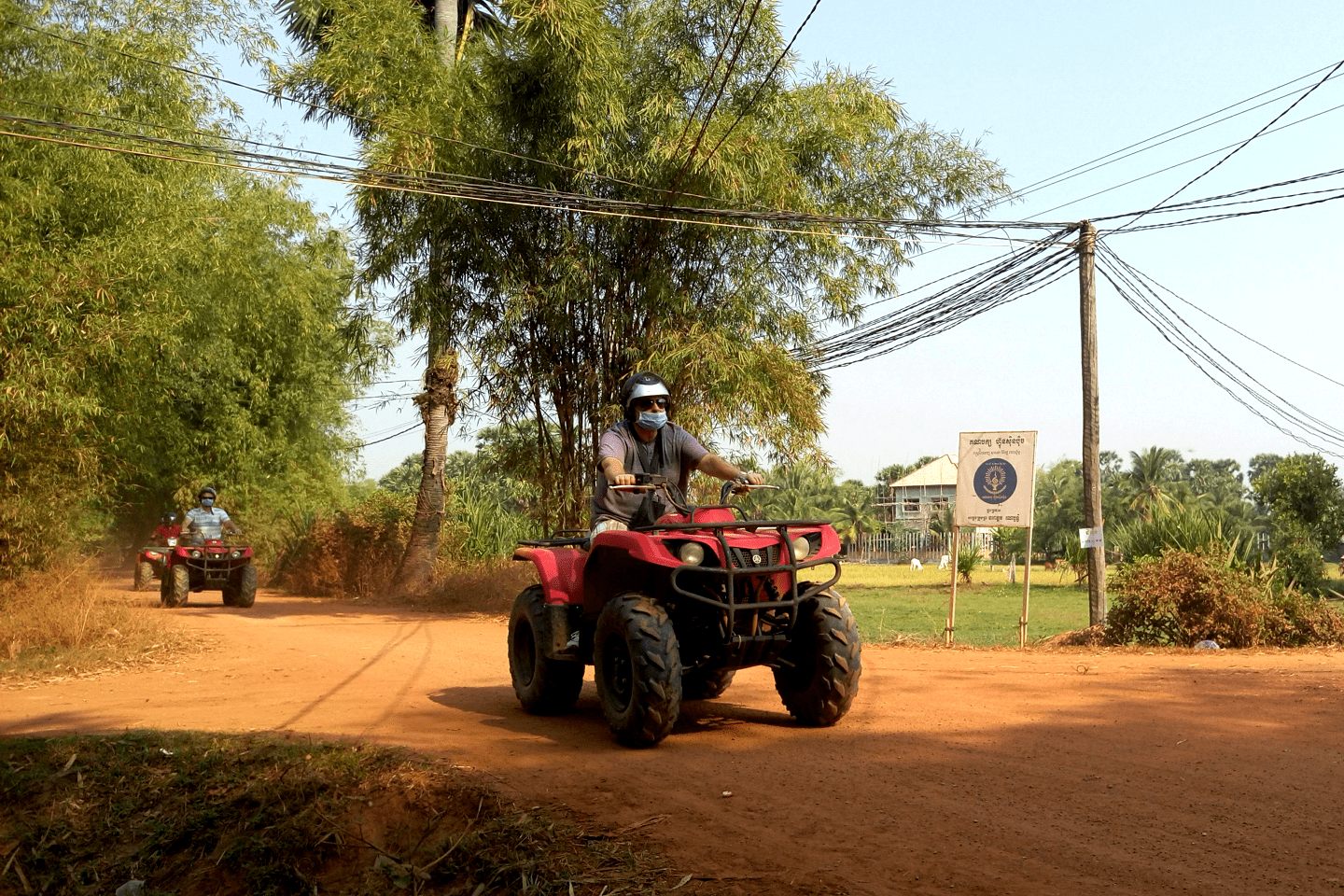 99Quad Bike Adventure along the rice pad