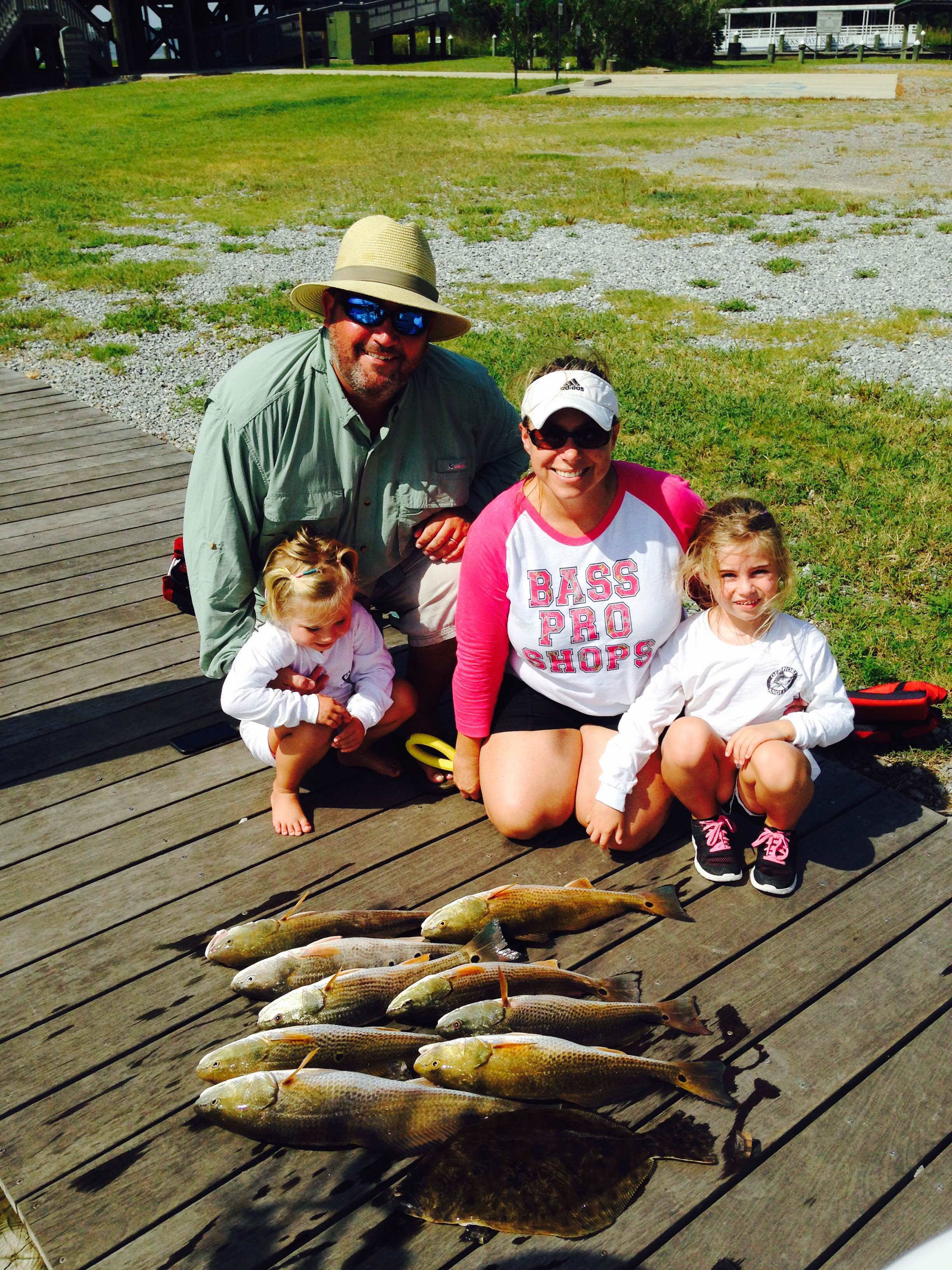 family fishing Fairhope