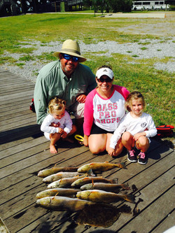 family fishing Fairhope