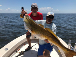 chris and client with bull red