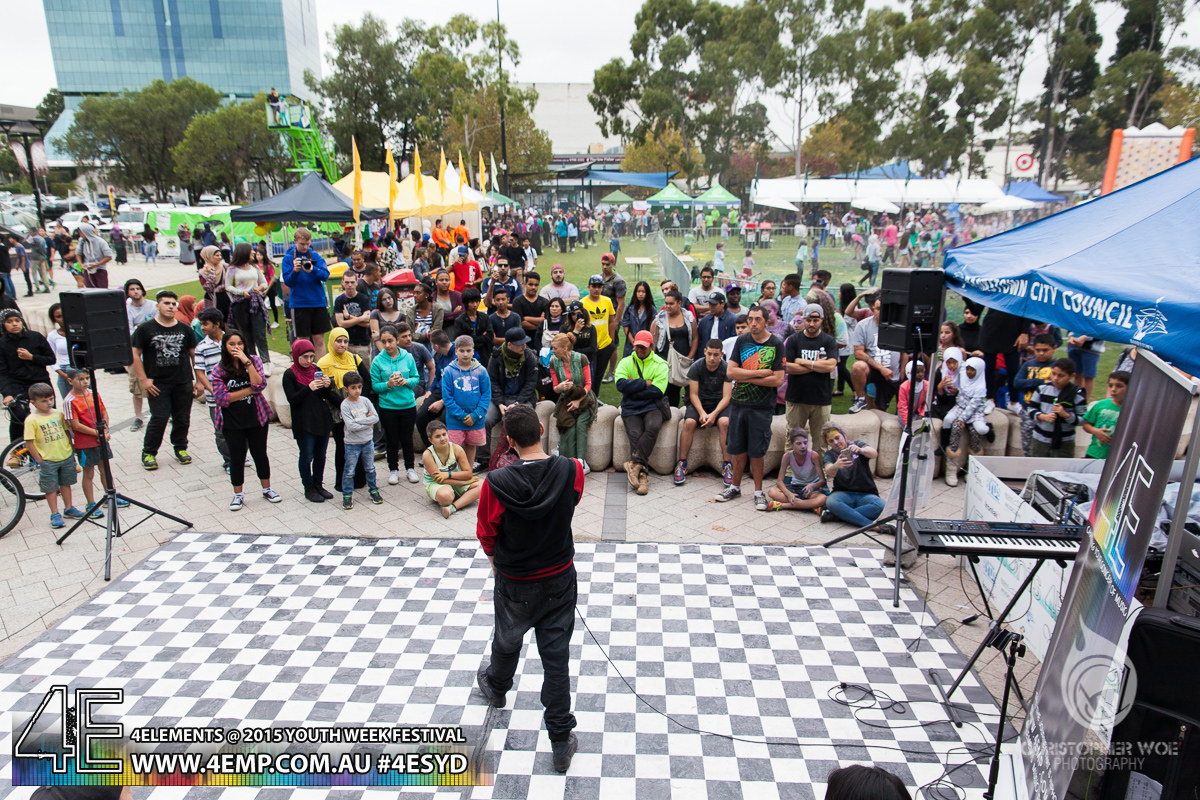 4Elements Youth Week Festival Bankstown 2015 Vyva Entertainment HipHop Sydney (2
