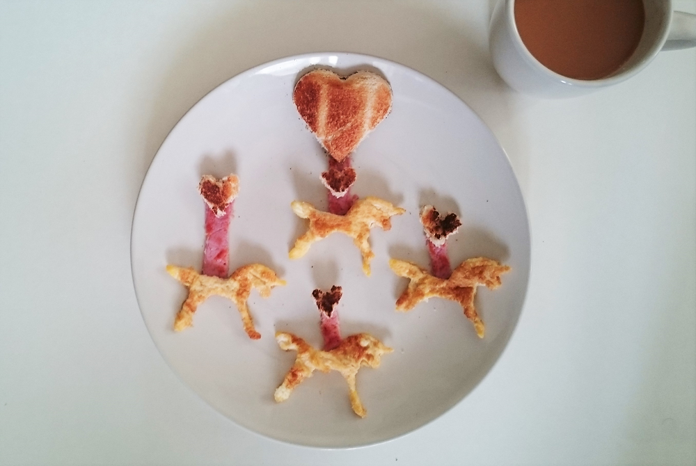 Food Art - Unicorn Breakfast