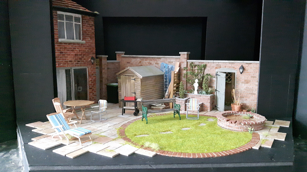 Photo: Worst Wedding Ever - James Button 1:25 scale box design model of set. (Photo  Credit - James Button)