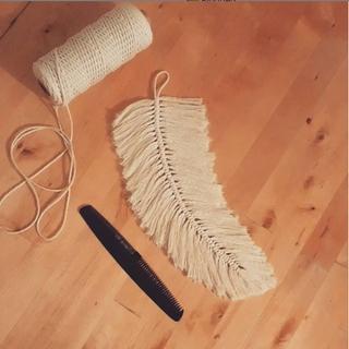 Giant Macrame Feather