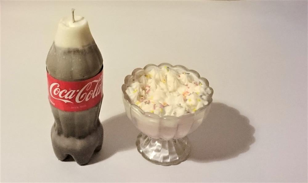 Candle Making coca-cola bottle and sundae ice cream
