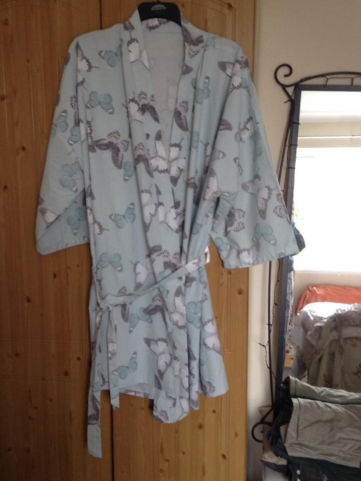 Dressing gown by Dianne Lindley. The perfect way to be stylish yet comfortable.