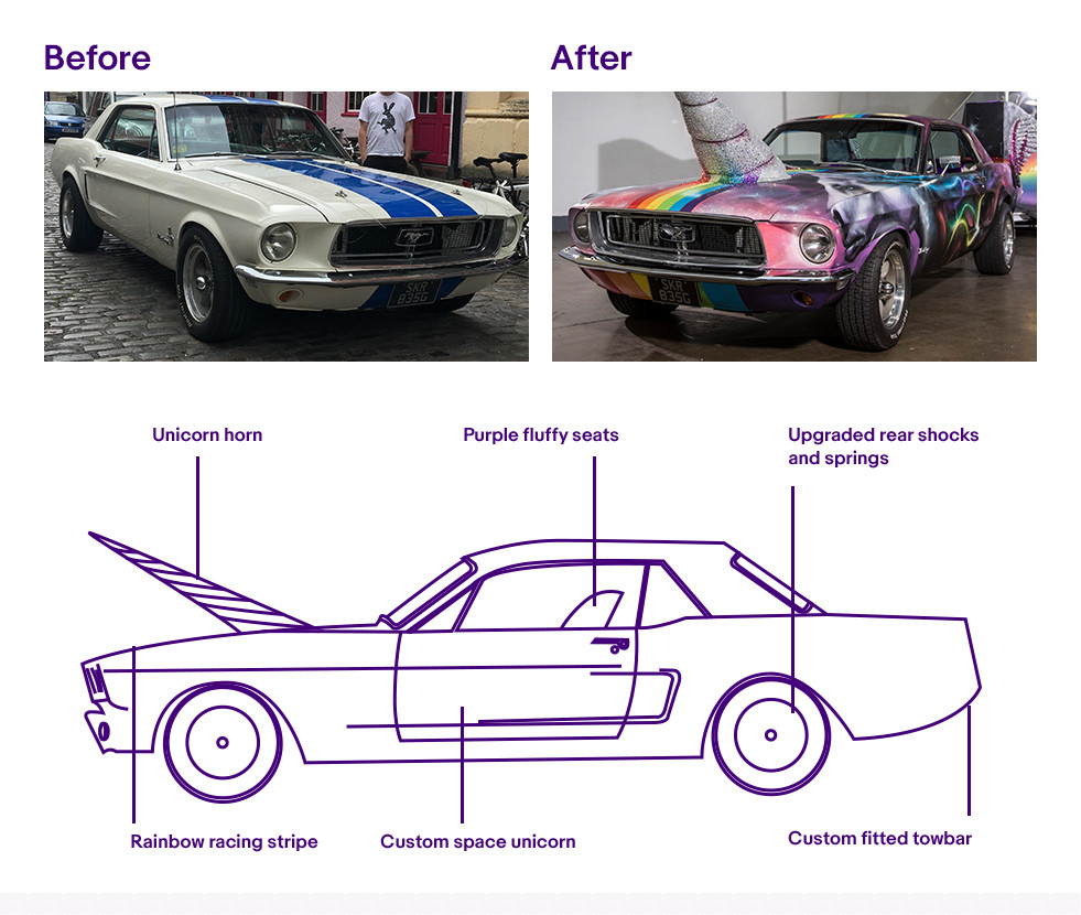 eBay Unicorn Car Upcycle