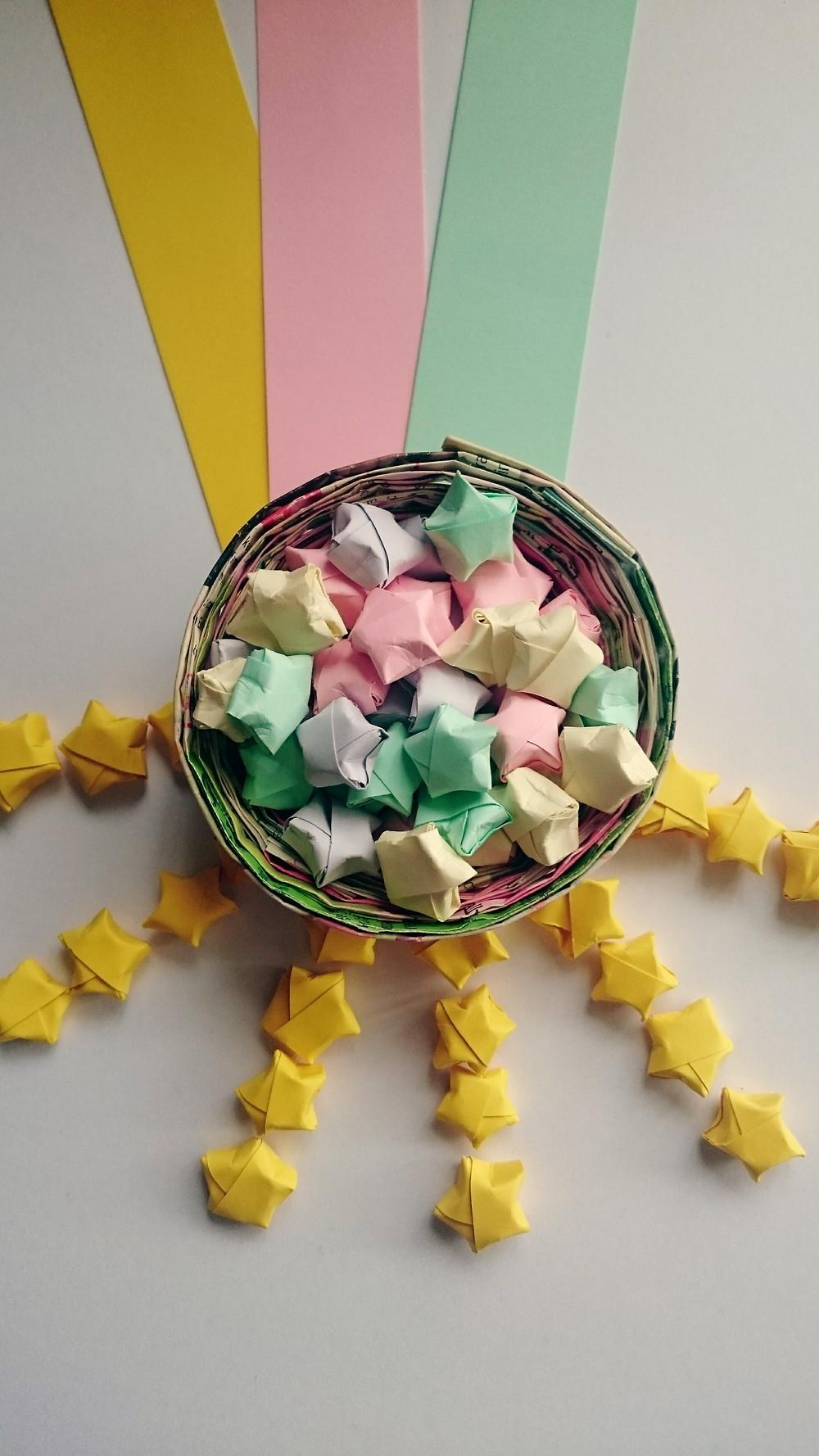 origami stars on the MayInspire blog