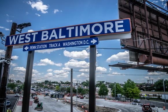 West Baltimore MARC Parking Lot