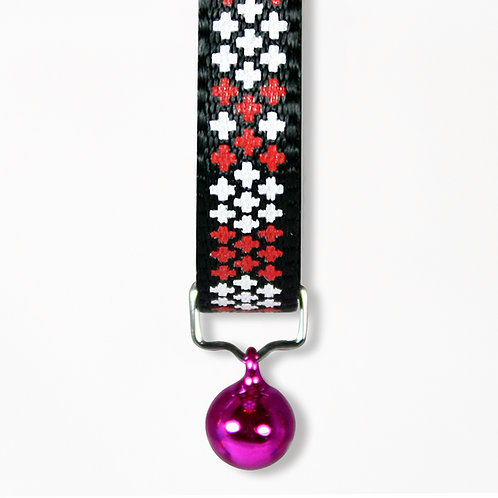 Cross Cat Collar - Red