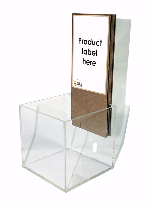 Small acrylic box counter top display