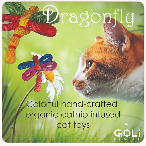 Dragonfly catnip infused cat toy