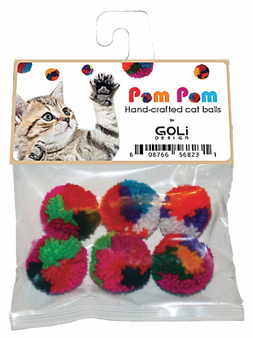 Pom Pom cat ball 6 pack