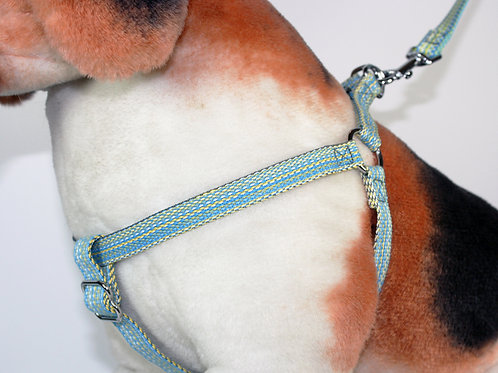 Haight Ashberry Re-purposed dog harness - Blueberry Medium