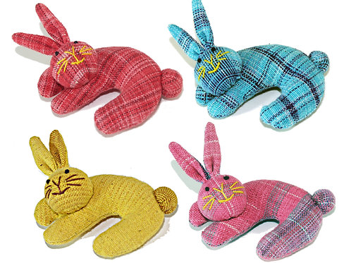Nip-naps & Curly Catnip Infused Cat Toys - Curly Bunnies
