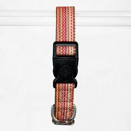 Haight Ashberry Re-purposed Dog Collar - Large  Salmonberry