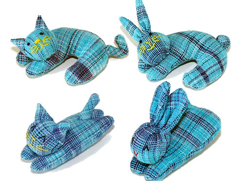 Blue color Nip-naps and Curly 4 piece set
