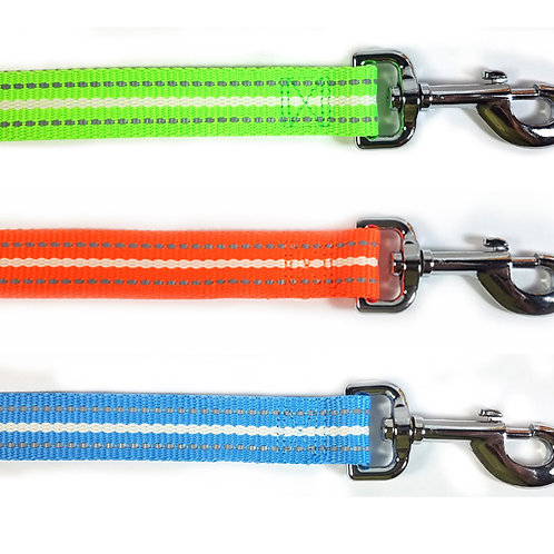 BellaLuna Glow in the Dark & reflective leashes - Large