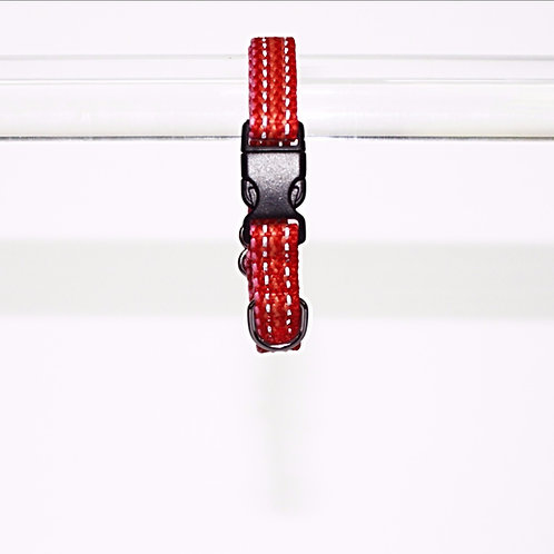 Haight Ashberry Re-purposed & Reflective Dog Collar - Extra-Small  Strawberry