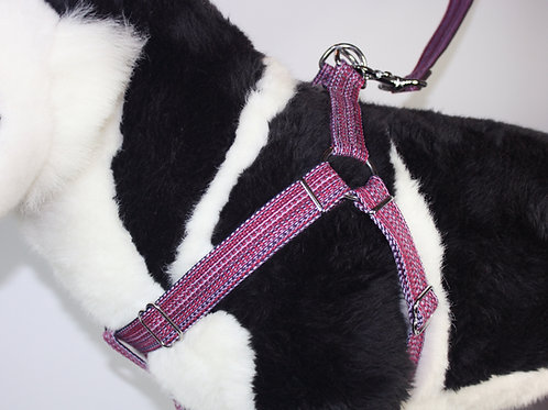 Haight Ashberry Re-purposed dog harness - Huckleberry Large